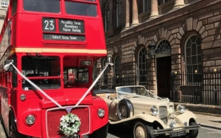 Bus & Wedding Car